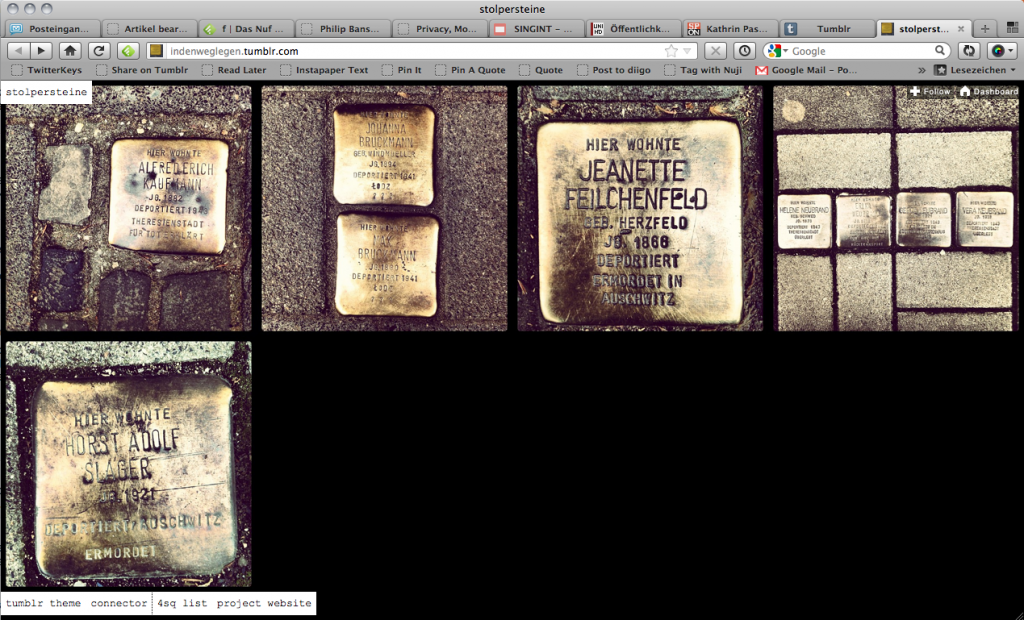 Screenshot Tumblr Stolpersteine