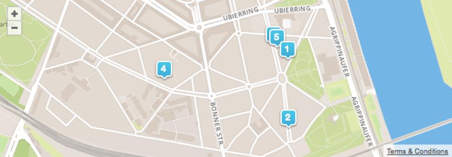 Foursquare Karte Stolpersteine
