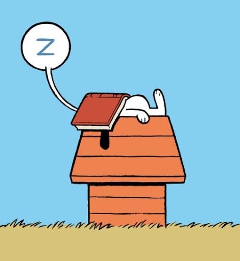 Snoopy mit Buch