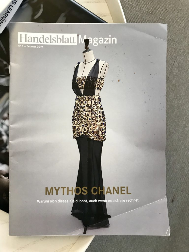 handelsblatt magazin cover chanel
